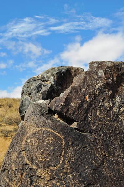 Photograph - Petroglyph Monument Face by Kyle Hanson
