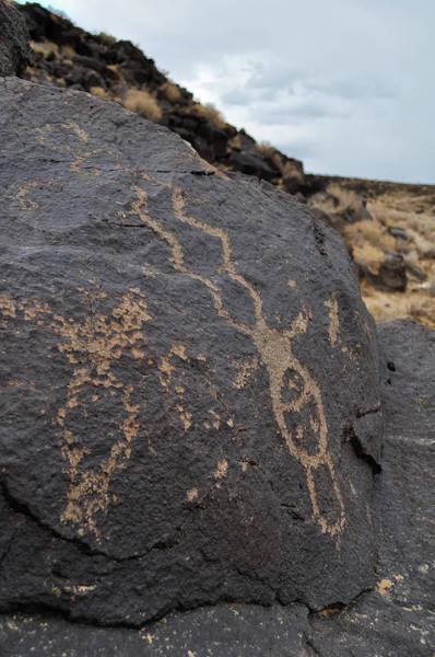 Photograph - Petroglyph Monument Figure by Kyle Hanson