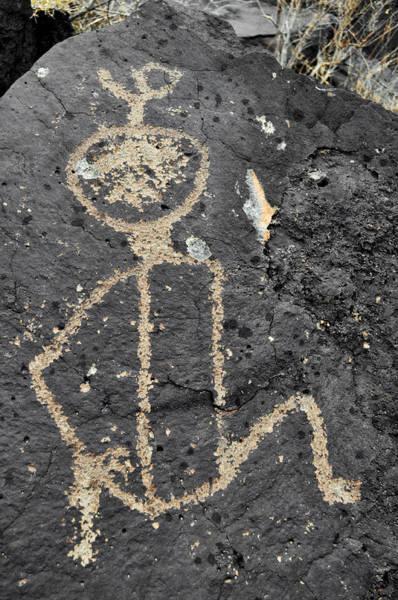 Photograph - Petroglyph National Monument Art Figure by Kyle Hanson