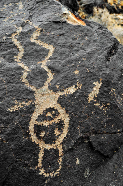 Photograph - Petroglyph National Monument Figure Portrait by Kyle Hanson