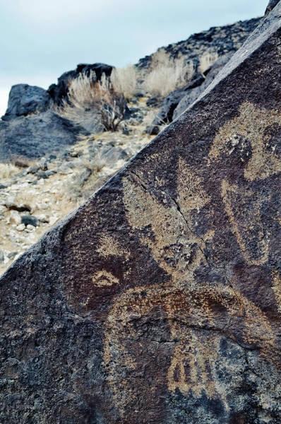 Photograph - Petroglyph National Monument Flying Figure Portrait by Kyle Hanson