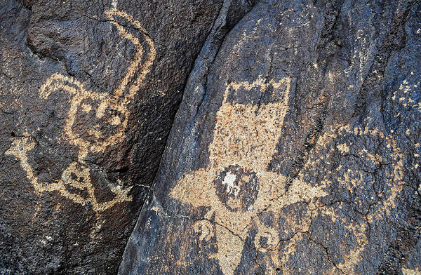 Photograph - Petroglyph National Monument Star People by Kyle Hanson