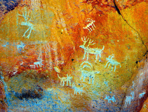 Petroglyph Photograph - Petroglyph Panel Work 12 by David Lee Thompson