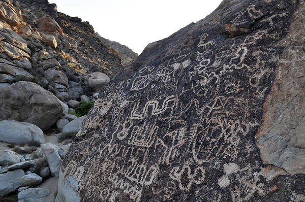 Photograph - Petroglyph Wall Lake Mead National Park by Kyle Hanson