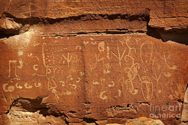 Wall Art - Photograph - Native Ameican Petroglyphs On Sandstone by John Stephens
