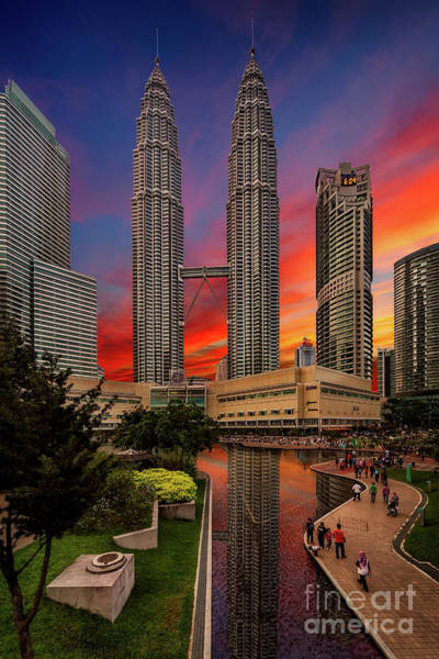 Wall Art - Photograph - Petronas Towers Sunset by Adrian Evans