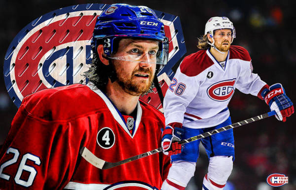 Montreal Canadiens Digital Art - Petry Poster Print by Nicholas Legault