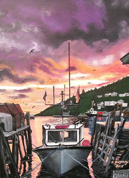 Painting - Petty Harbour by Sharon Duguay