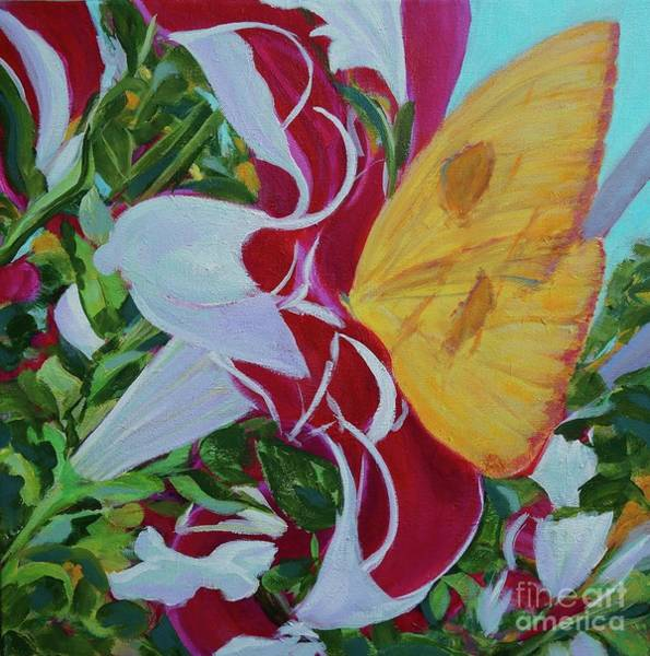 Painting - Petunias by Gail Kent