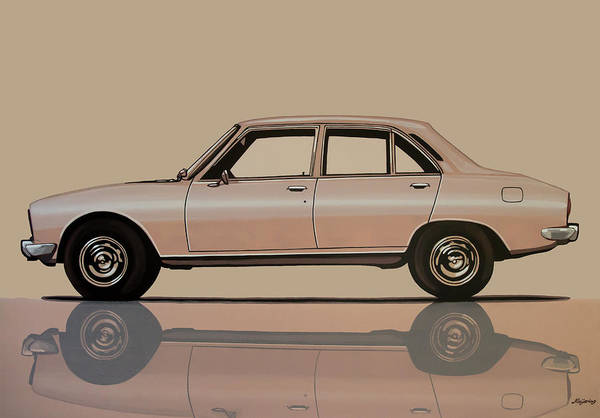 Wall Art - Painting - Peugeot 504 1968 Painting by Paul Meijering