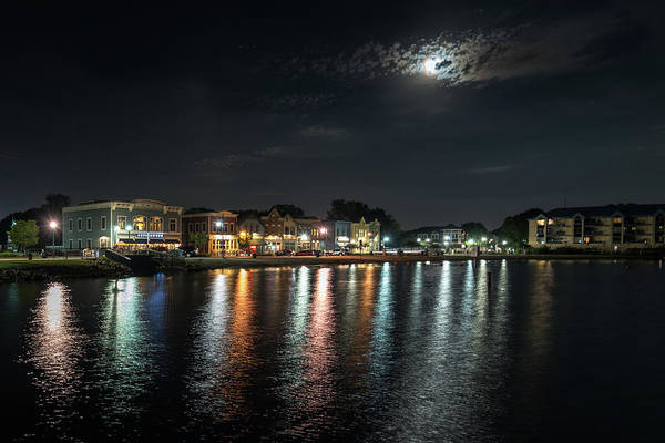 Photograph - Pewaukee At Night by Randy Scherkenbach