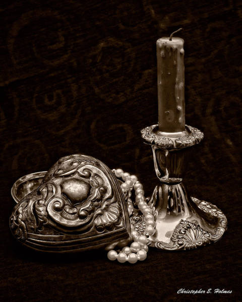 Photograph - Pewter And Pearls - Sepia by Christopher Holmes