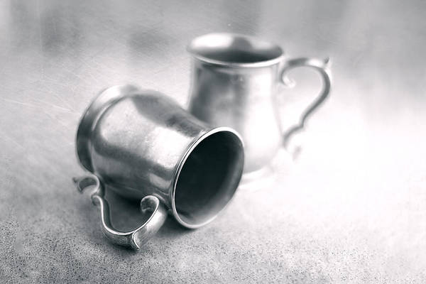 Kitchen Utensil Photograph - Pewter Tankards Still Life by Tom Mc Nemar