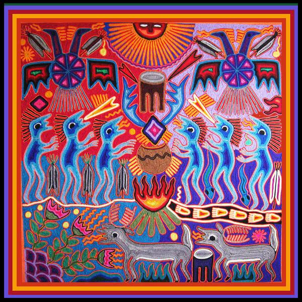 Southwest Digital Art - Peyote Shaman Hunting Ritual by Vagabond Folk Art - Virginia Vivier