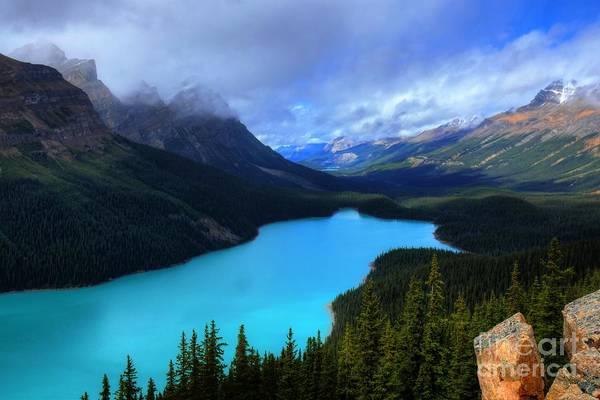 Photograph - Peyto Lake Banff National Park Majestic Beauty by Wayne Moran