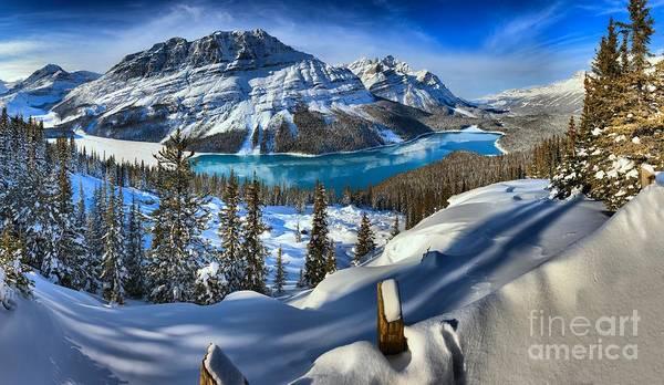 Photograph - Peyto Lake Winter Paradise by Adam Jewell