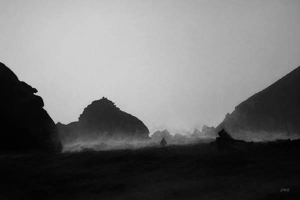 Photograph - Pfeiffer Beach V Bw by David Gordon