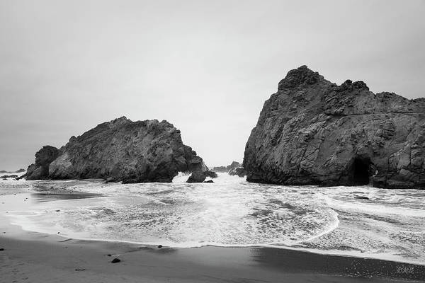 Photograph - Pfeiffer Beach Viii Bw by David Gordon