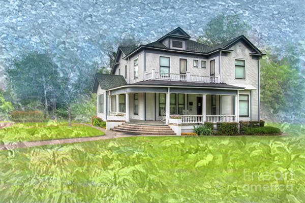 Historic House Digital Art - Pfeiffer House  by Larry Braun