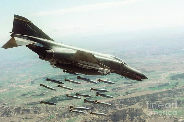 Dive Bombing Digital Art - Phantom Bomber by J Biggadike