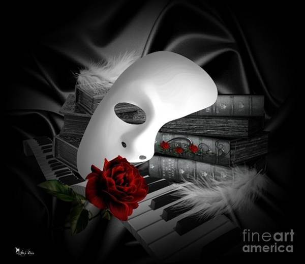 Nostalgia Digital Art - Phantom Of The Opera by Ali Oppy