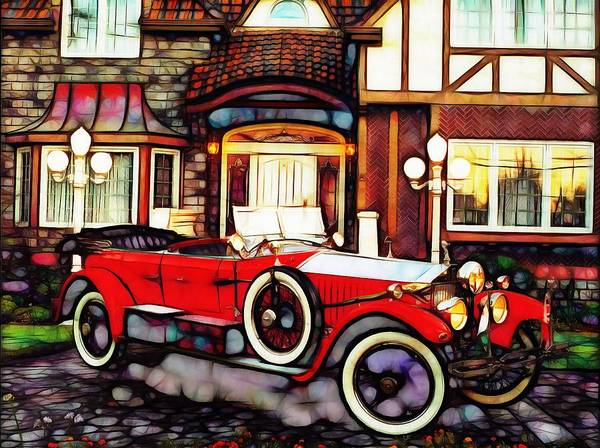 Phantom Rolls Royce 1935 Art Print
