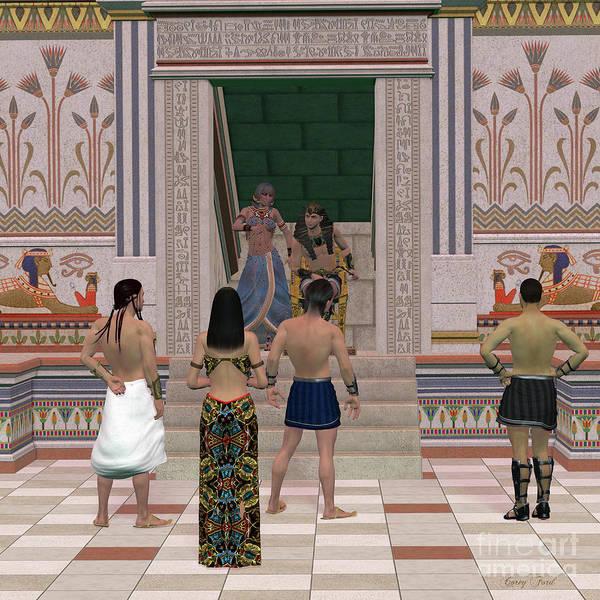 Kingship Wall Art - Painting - Pharaoh Throne Hall by Corey Ford