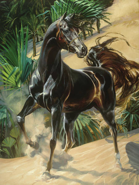 Dressage Painting - Pharaoh's Own by Heather Theurer