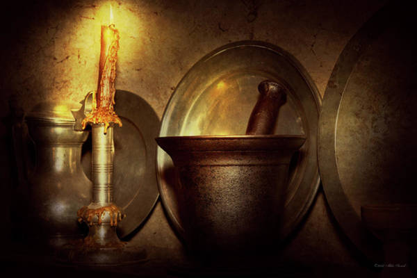 Photograph - Pharmacist - Pestle - Open Late by Mike Savad
