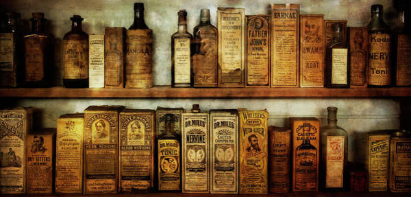 Wall Art - Photograph - Pharmacist's Cabinet  19th Century by Daniel Hagerman