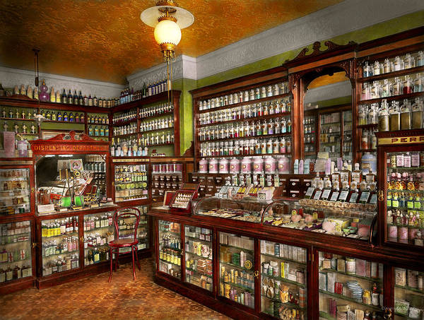 Photograph - Pharmacy - The Chemist Shop Of Mr Jones 1907 by Mike Savad