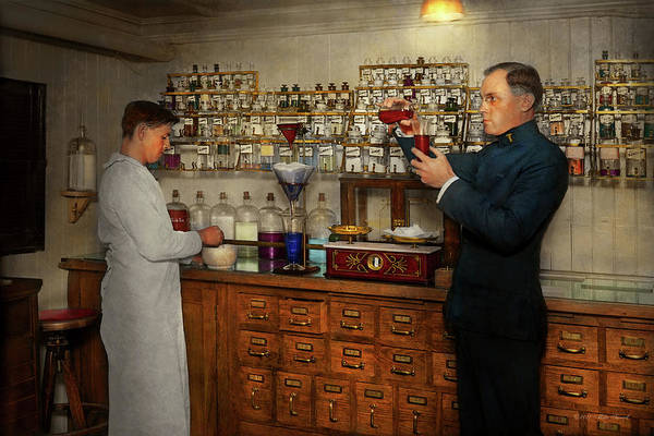 Photograph - Pharmacy - The Mixologist 1905 by Mike Savad