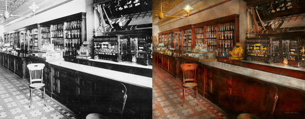 Wall Art - Photograph - Pharmacy - W.b. Danforth Drugs 1895 - Side By Side by Mike Savad