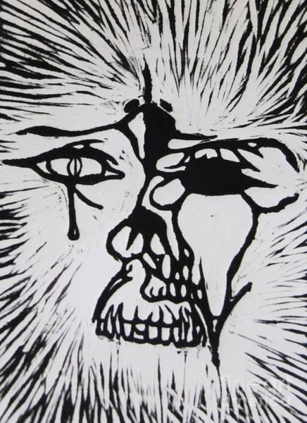 Linoleum Mixed Media - Pharoh Pre Tempus by Aaron Wilcox