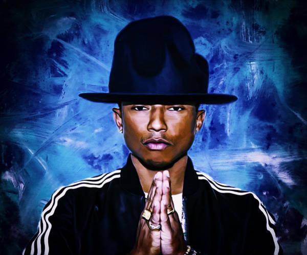 Rhea Painting - Pharrell Williams Happy II by Brian Reaves