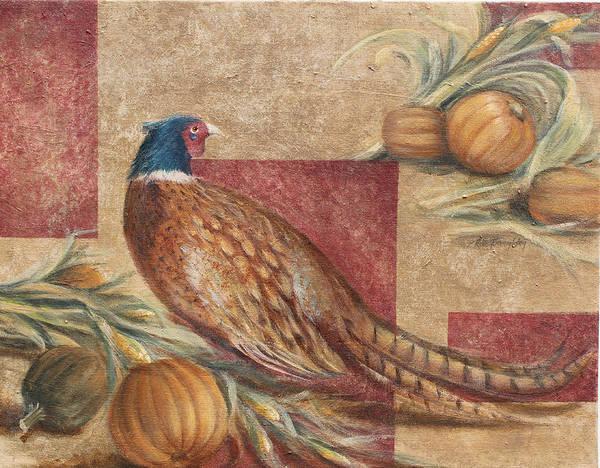 Husk Painting - Pheasant I by Rita   Broughton