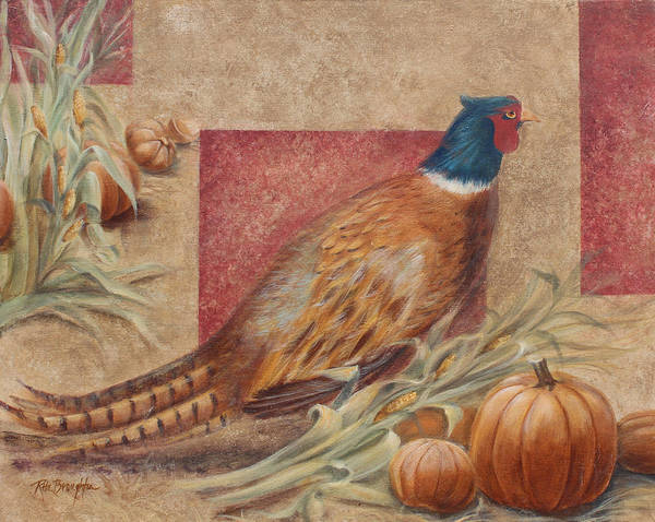 Husk Painting - Pheasant II by Rita   Broughton