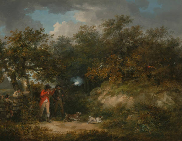 Wall Art - Painting - Pheasant Shooting by George Morland