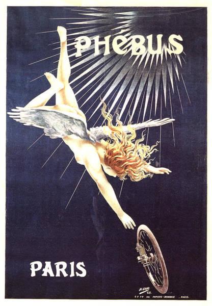 Wall Art - Mixed Media - Phebus, Paris - Bicycle - Vintage Advertising Poster by Studio Grafiikka