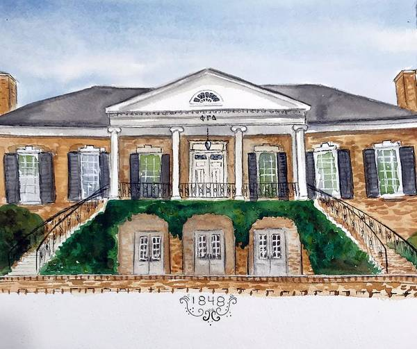 Wall Art - Painting - Phi Gamma Delta by Starr Weems