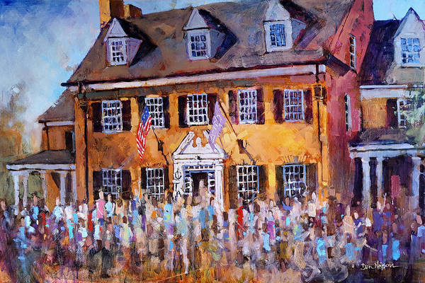 Champagne Painting - Phi Gamma Delta Unc by Dan Nelson