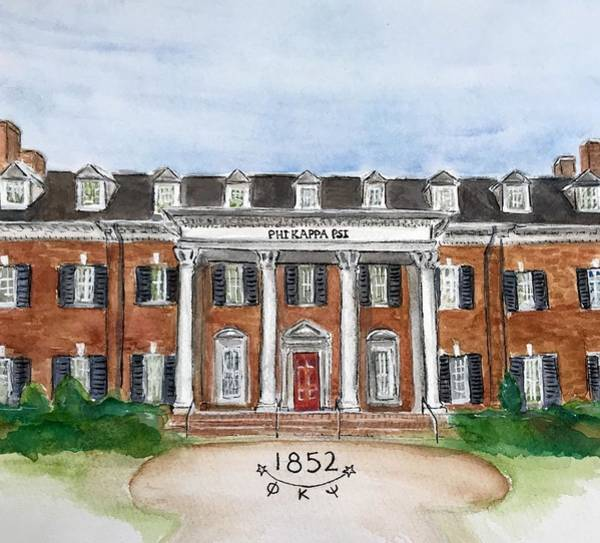 Wall Art - Painting - Phi Kappa Psi by Starr Weems