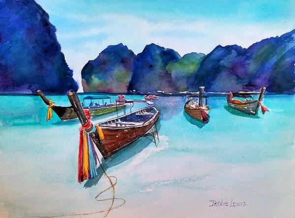 Painting - Phi Phi Island by Debbie Lewis