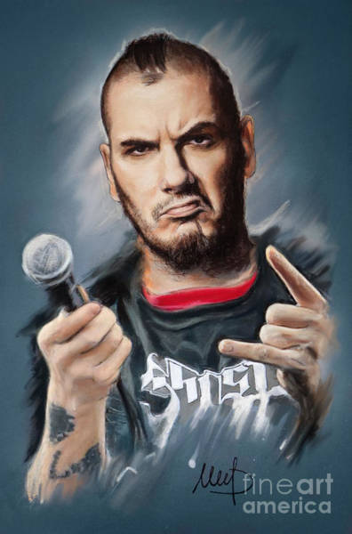 Wall Art - Mixed Media - Phil Anselmo by Melanie D