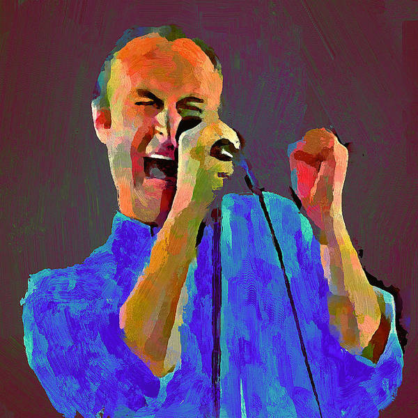 Voices Digital Art - Phil Collins Tonight Tonight by Yury Malkov