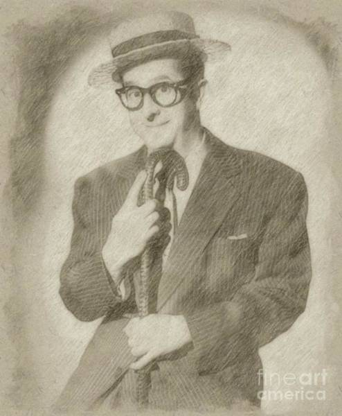 Wizard Drawing - Phil Silvers, Actor, Comedian by Frank Falcon