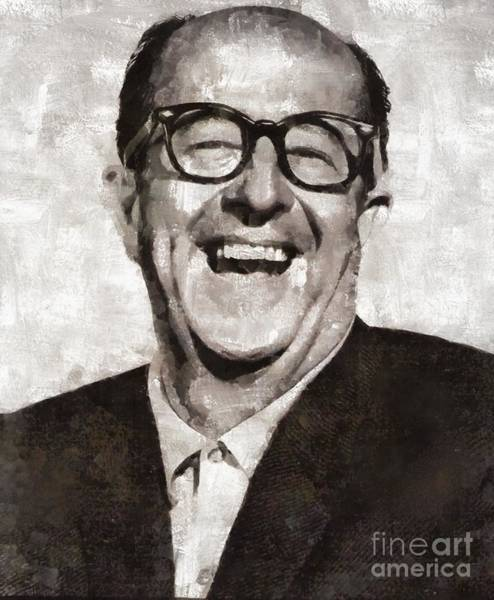 Wall Art - Painting - Phil Silvers, Actor, Comedian by Mary Bassett