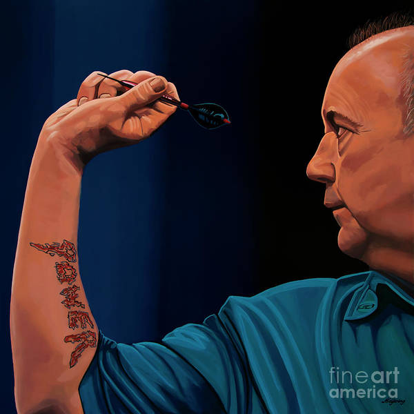 Concentration Wall Art - Painting - Phil Taylor The Power by Paul Meijering