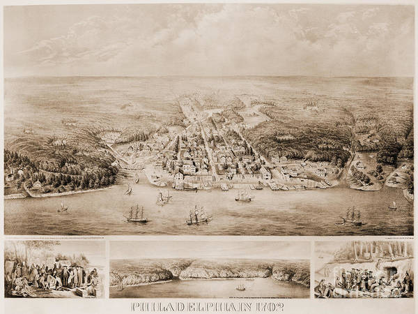 Photograph - Philadelphia, 1702 by Granger