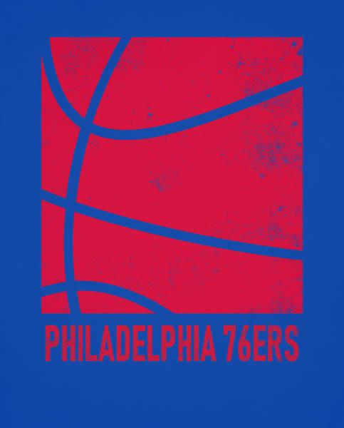 Vintage Poster Mixed Media - Philadelphia 76ers City Poster Art 2 by Joe Hamilton